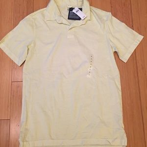 Gap mens xs, very light yellow polo shirt NWT